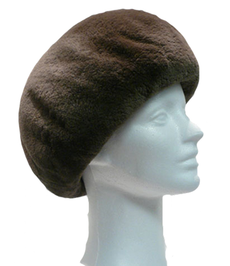 Sheared beaver small beret - Item # AC0076