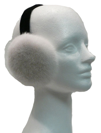 White mink earmuffs - Item # AC0100
