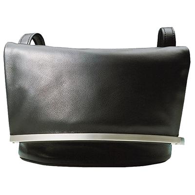 Olbrish Black Calf Handbag. Folds Over With Multiple Pockets. Smartphone and Safety Pocket. JZ-1189