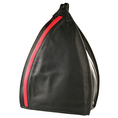 Olbrish Bag + Backpack In One. Smartphone, Envelope & 3 Zipper Pockets. Great for Travel. Black with Red. JZ-1130