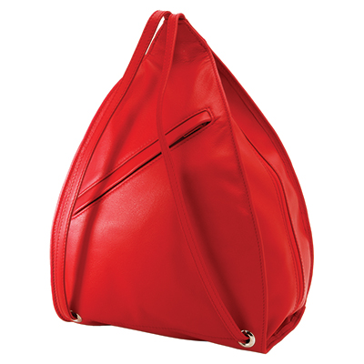 Olbrish Bag + Backpack In One. Smartphone, Envelope & 3 Zipper Pockets. Great for Travel. Red. JZ-1129