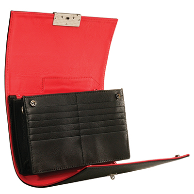 Olbrish Organizer. Pen Pocket, 5 Envelope Pockets, 12 Card Slots, Removable Adjustable Strap. JZ-1205
