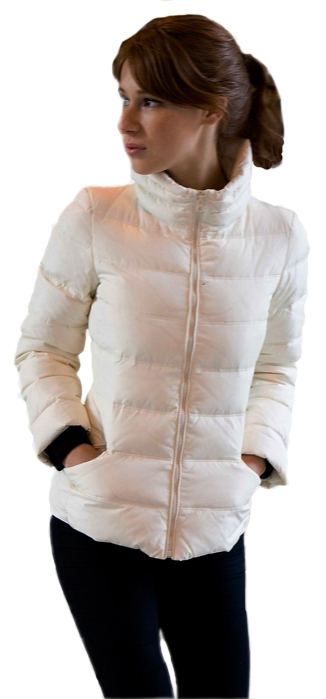 "26"" Goose Down Jacket. Available In White & Obergine - Item # FF0002"