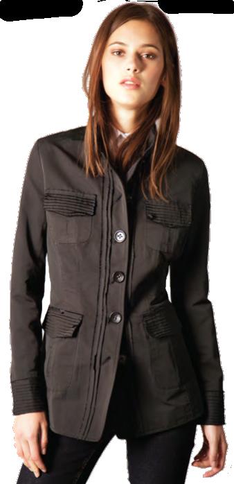 "Black Safari 28"" Jacket - Item # KB-271"