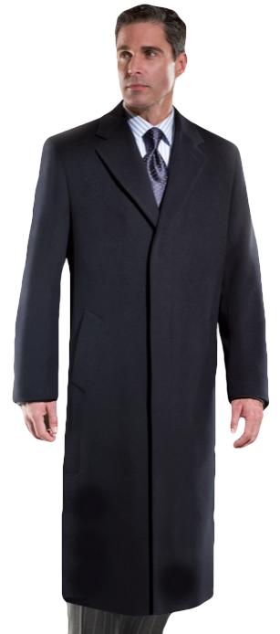 "48"" Wool & Cashmere Blend Top Coat-also available in 100% Cashmere or Wool Gabardine - Item # ME0003"