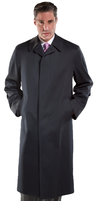 "48"" Wool Gabardine All Weather Top Coat. Also available in Wool blend or 100% Cashmere - Item # ME0004"