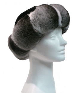 Cross cut chinchilla sheared mink crown - Item # AC0087
