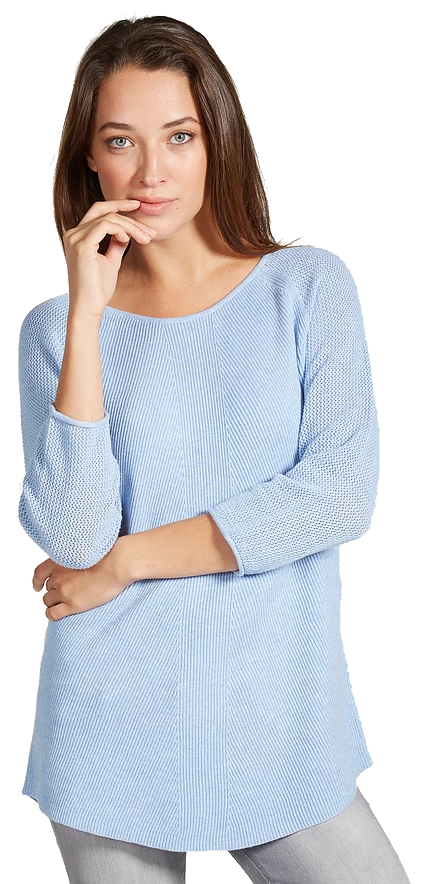 Damask Sweater - Blue