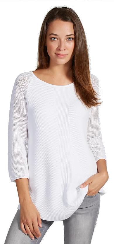 Damask Sweater - White