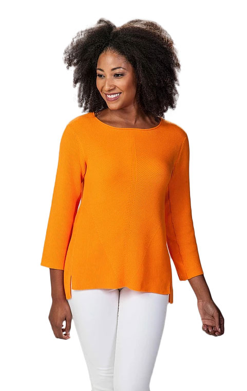 Damask knitwear - orange top