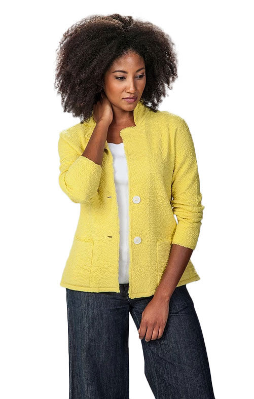 Damask knitwear - yellow jacket