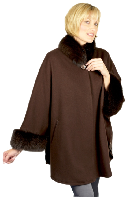 Loro Piana Cashmere trimmed with Golden Island Fox or any other fur & leather appliqué - Item # RS0097