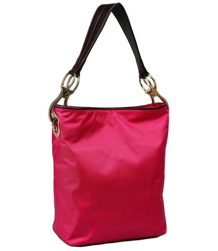 Nylon Bucket Bag - Fuschsia