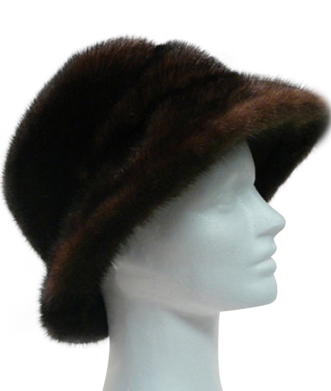 Mahogany mink cloche - Item # AC0075 narrow-up-img
