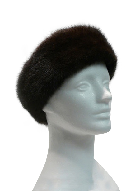 Mahogany mink headband - Item # AC0093