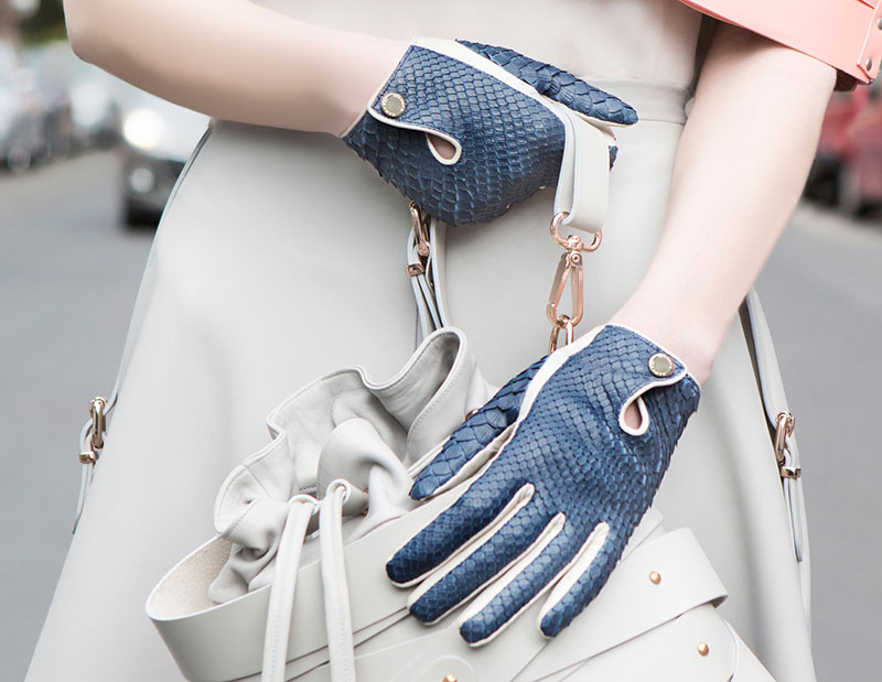 Hamerli Gloves - Blue & White