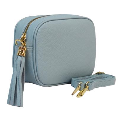 Woman Leather Cross Body Bag - Vera - Blue